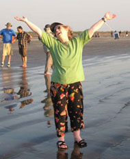 Ecstatic on the beach in India